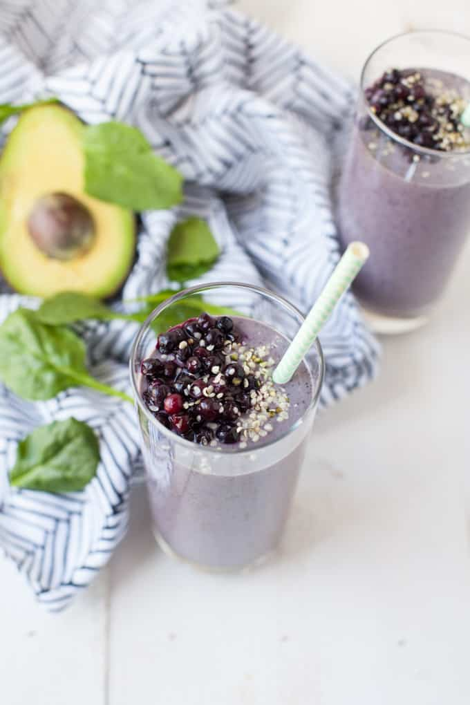 This vegan energy boosting smoothie is packed with nutrients and antioxidants that will give you long-lasting fuel to naturally carry you throughout your day.