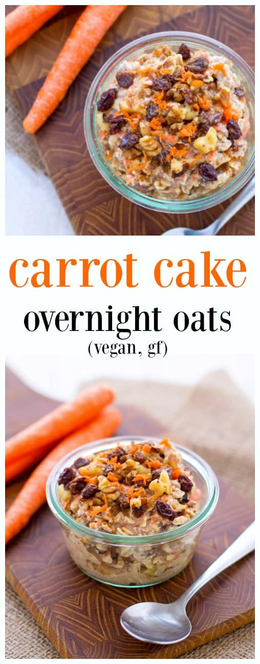 kara lydon vegan carrot cake overnight oats the foodie dietitian. Black Bedroom Furniture Sets. Home Design Ideas