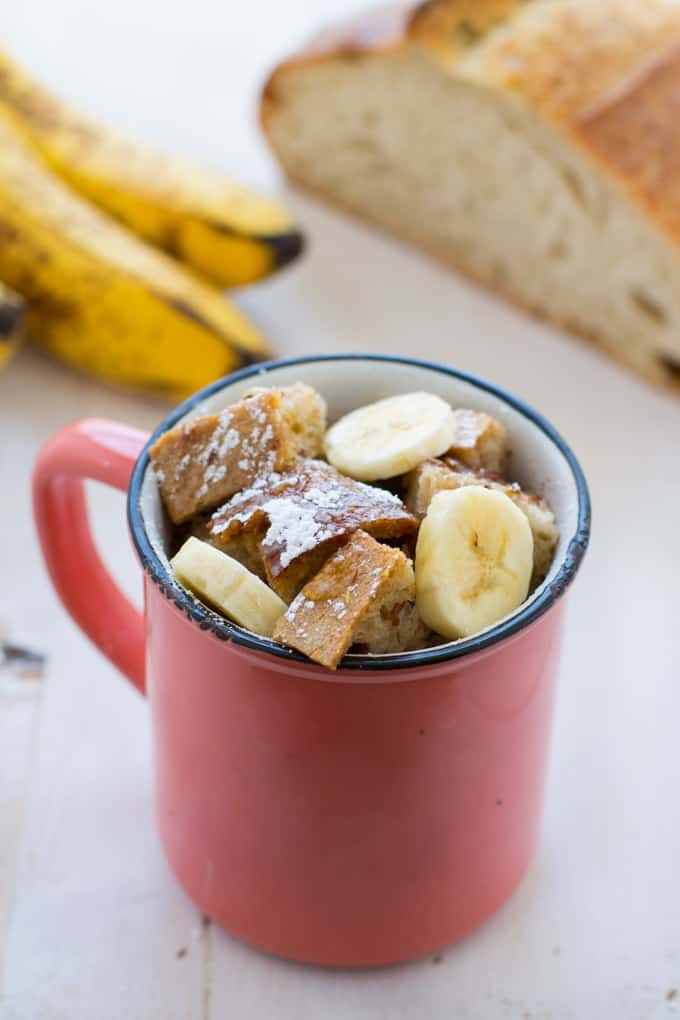 Vegan Banana French Toast in a Mug-1-2