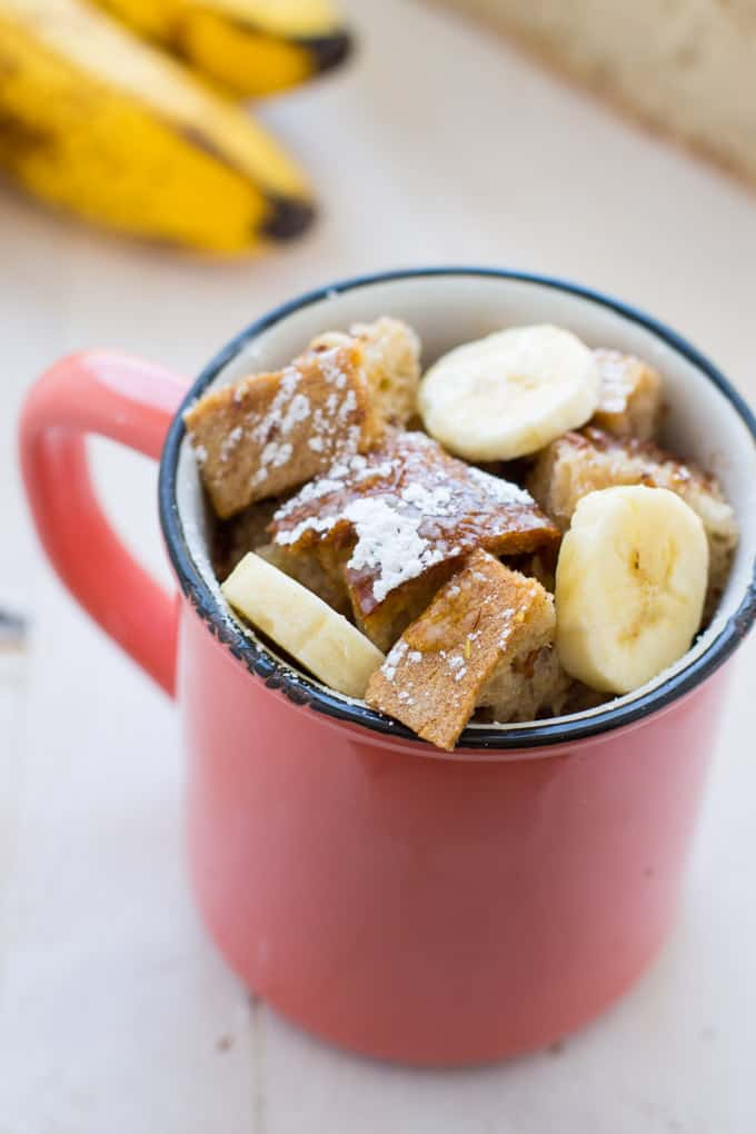 Vegan Banana French Toast in a Mug
