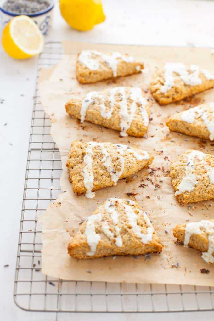 Lemon Lavender Oat Scones found in Nourish Your Namaste e-book
