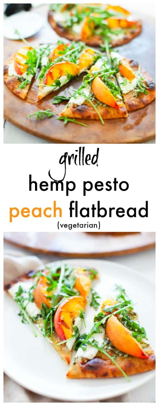 A delicious and easy dish, this grilled hemp pesto peach flatbread is perfect to fire up on the grill to satisfy your guests during a summer weekend celebration.