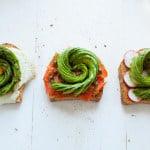 Avocado Rose Toast 3 Ways