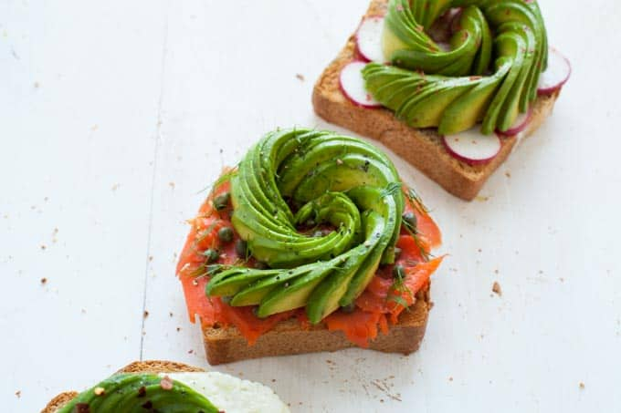 Avocado Rose Toast 3 Ways