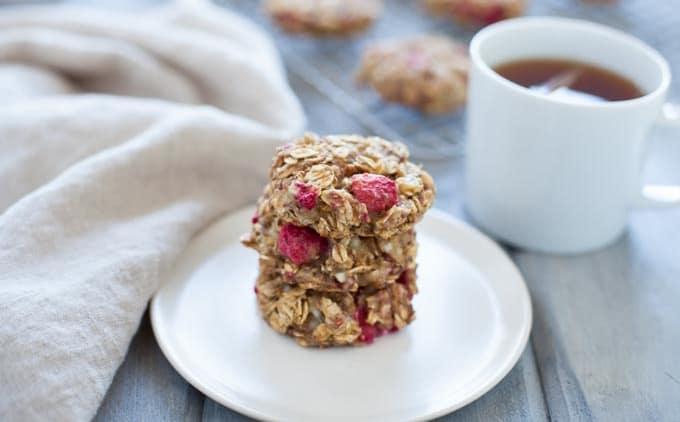 Lemon Raspberry Breakfast Cookies