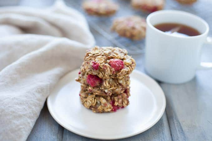 Lemon Raspberry Breakfast Cookies
