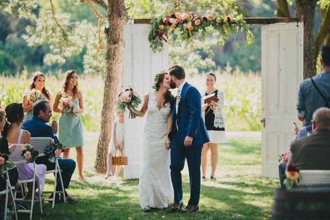 rustic barn wedding in new york