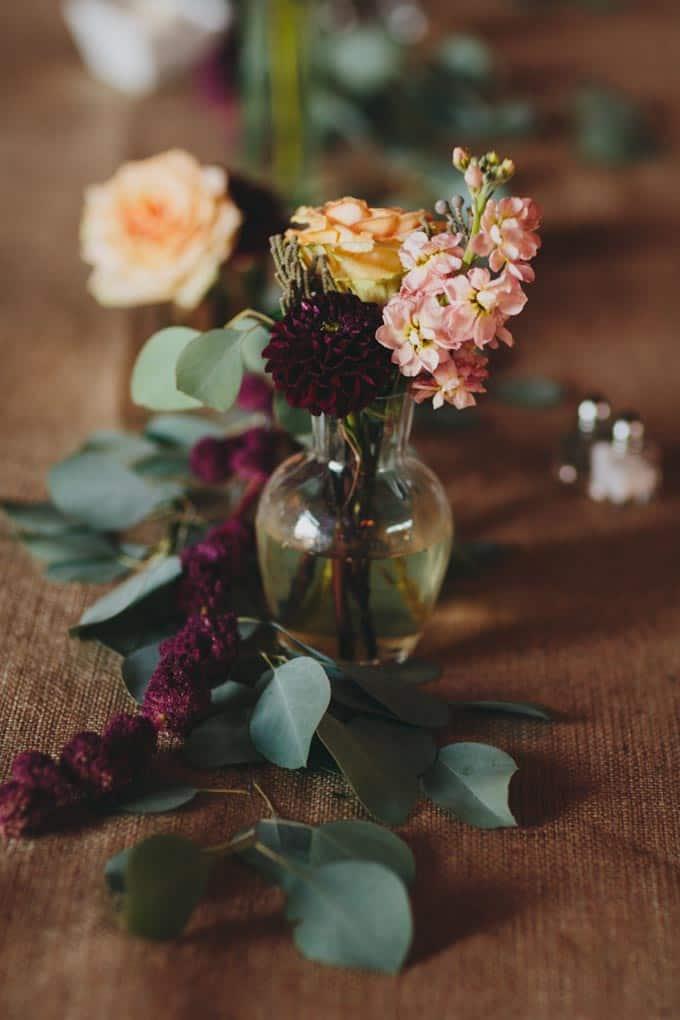 florals rustic barn wedding