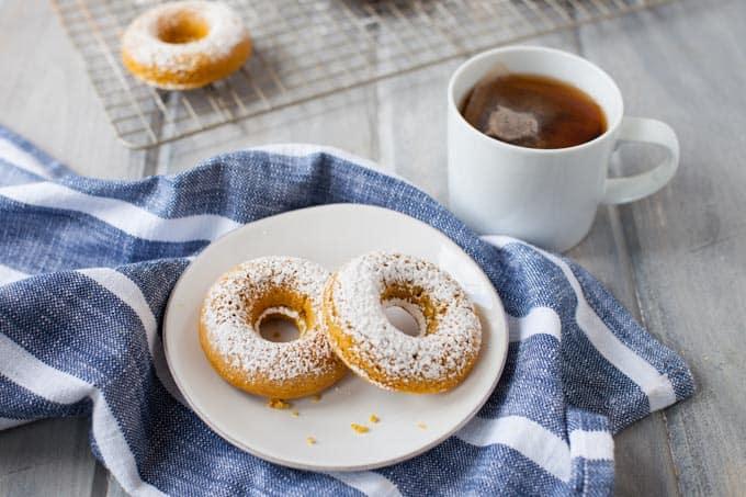 Whole Wheat Turmeric Honey Doughnuts
