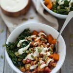 Fall Harvest Buddha Bowl with Creamy Cashew Apple Cider Dressing
