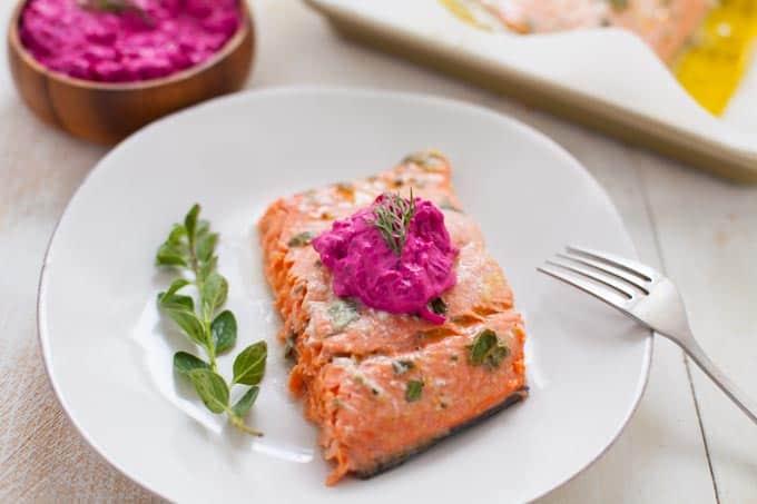 Greek Marinated Salmon