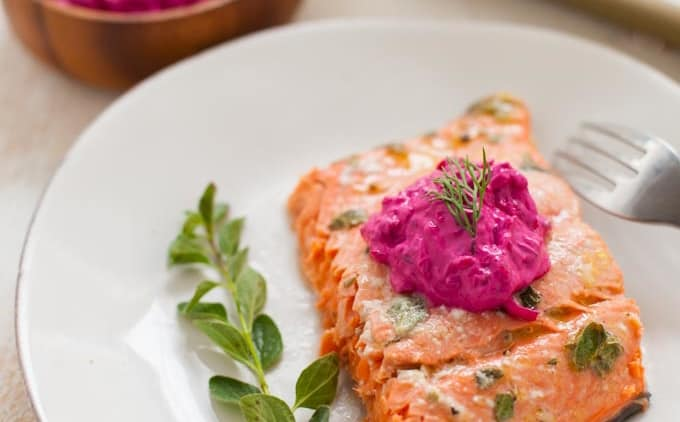 Greek Marinated Salmon and the Nutrition Benefits of Seafood