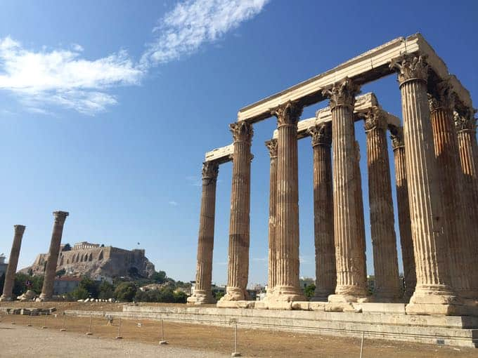 top 10 things to do on your honeymoon in greece. temple of zeus