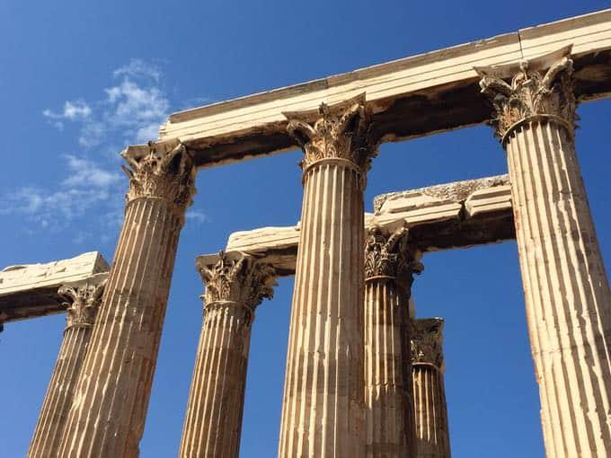temple of zeus. athens, greece.