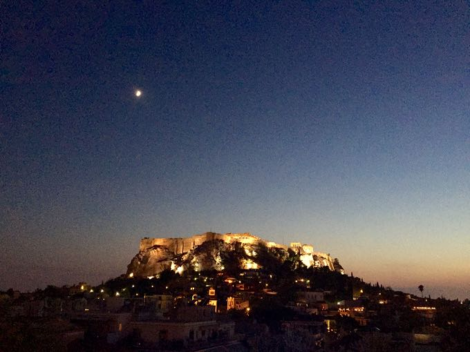 view from electra palace hotel, athens. top 10 things to do on your honeymoon in greece
