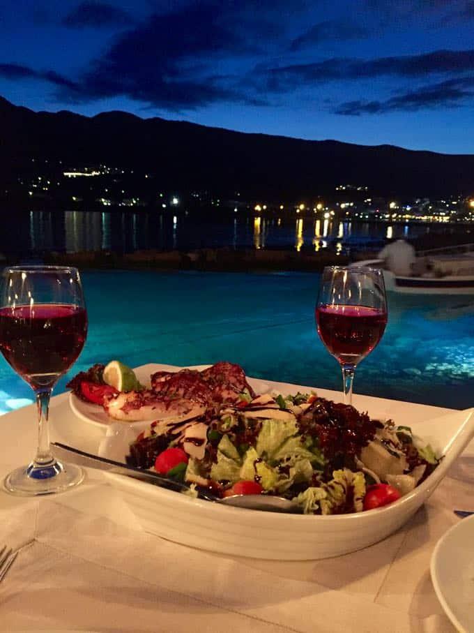 kanali restaurant, elounda, crete. top 10 things to do on your honeymoon in greece