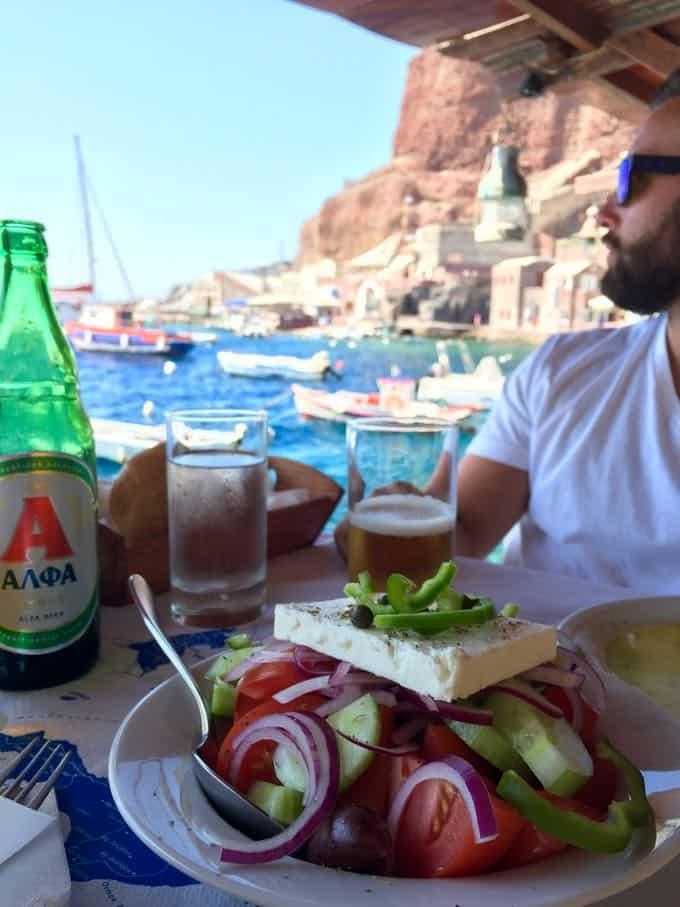 dimitris taverna. top 10 things to do on your honeymoon in greece. bay of ammoundi.