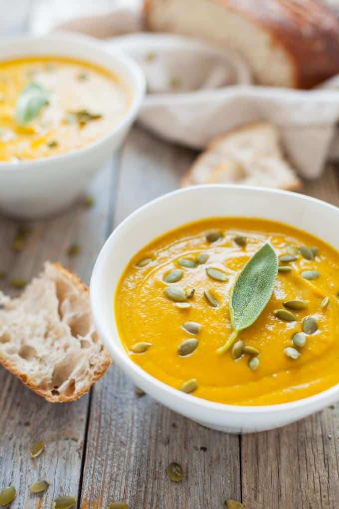 A quick and easy go-to weeknight meal for the fall and winter, this vegan turmeric pumpkin soup is packed with immune-boosting ingredients and fall flavor!