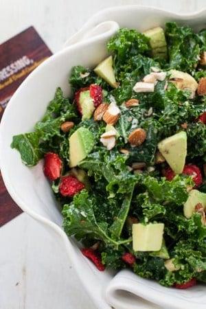Kale Salad with Lemon Yogurt Dressing and ALDI Giveaway!