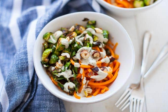 Sweet Potato Noodles with Sage Cashew Cream Sauce