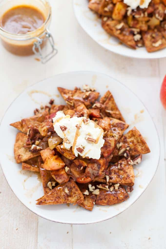 Vegan Apple Pie Nachos