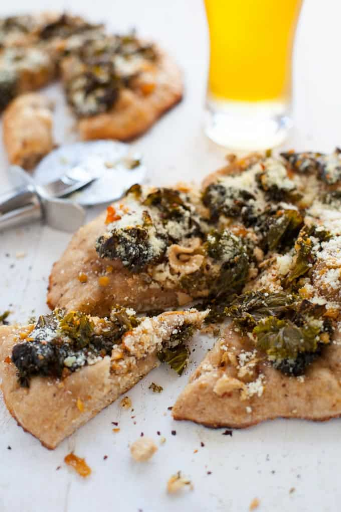 White Clam and Kale Pizza