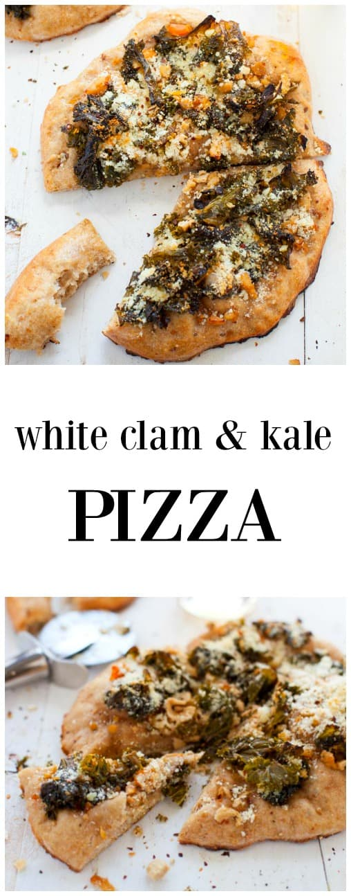 Smoky, savory and just plain delicious, this white clam and kale pizza needs to make an appearance at your next pizza night.