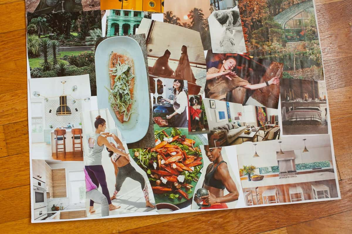 how to create a vision board for the new year