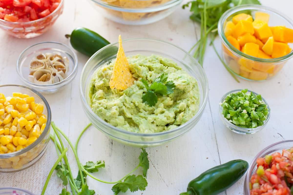 DIY Healthy Guacamole Bar