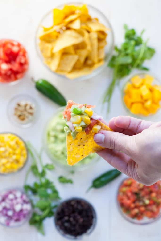 Healthy DIY Guacamole Bar