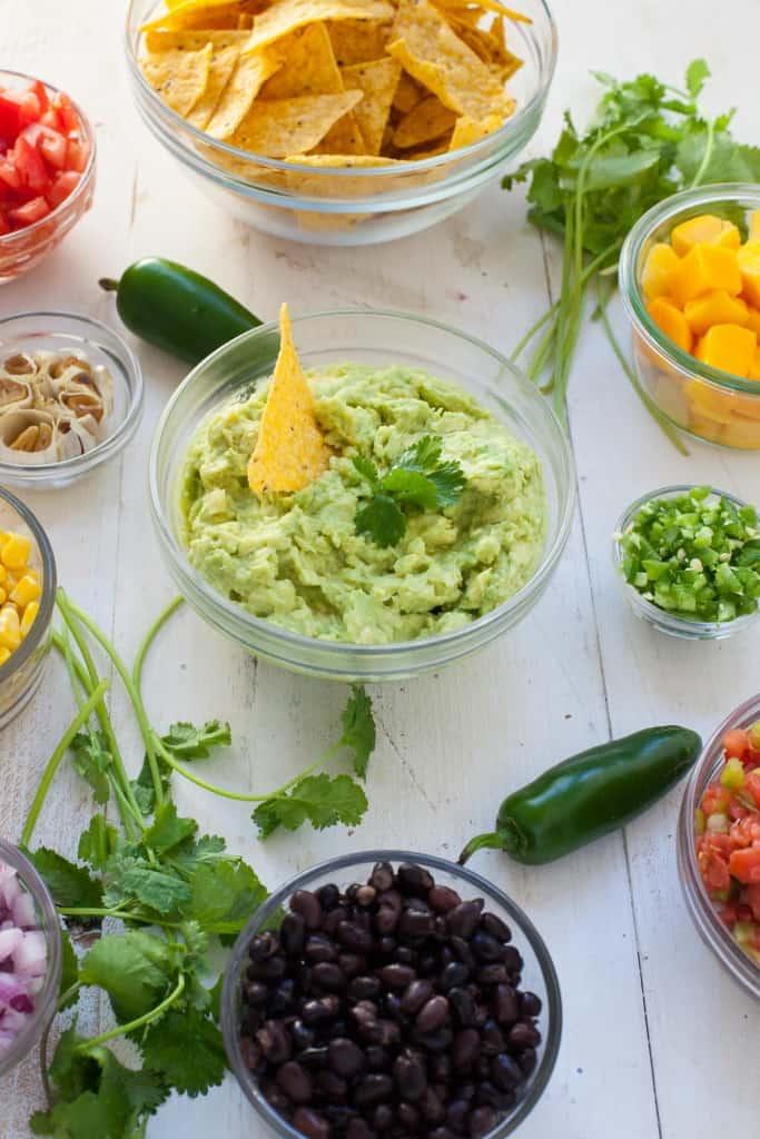 Healthy Guacamole Bar