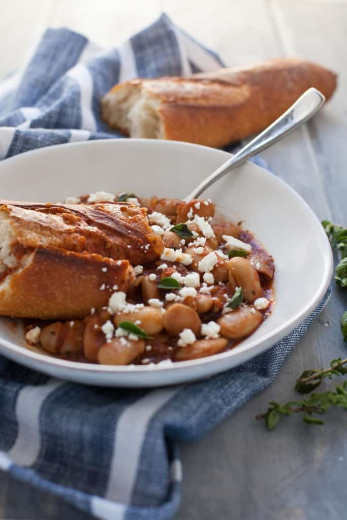 Slow Cooker Greek Baked Beans