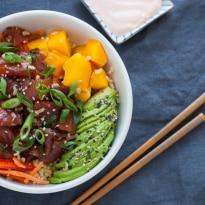 Spicy Salmon and Avocado Poke Bowl-4-2