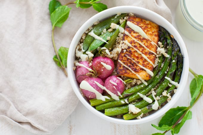 Spring Vegetable Buddha Bowl