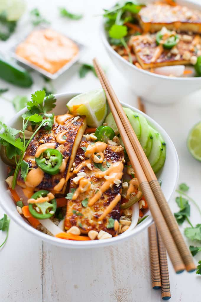 Vietnamese Tofu Banh Mi Bowl