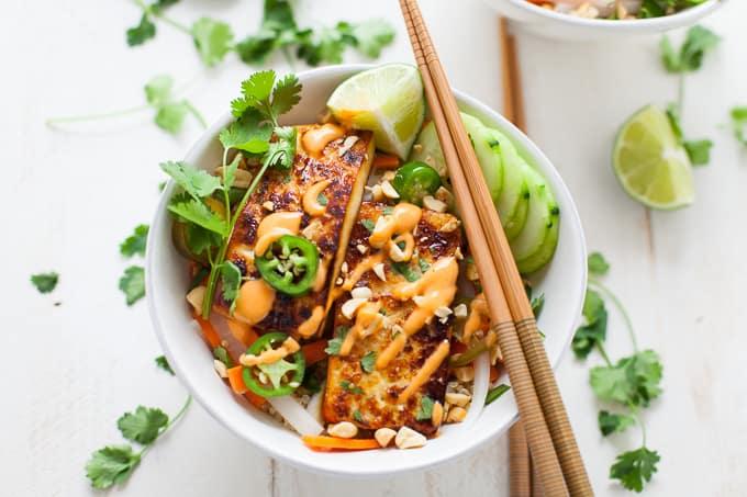 Vegetarian Tofu Bahn Mi Bowl