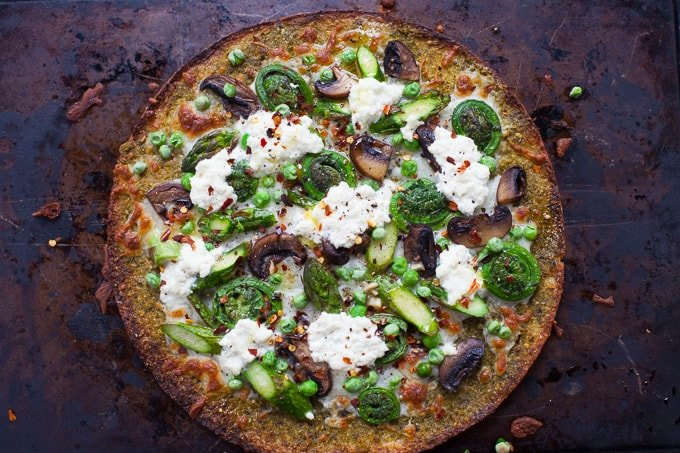 Farmer's Market Spring Vegetable Pizza