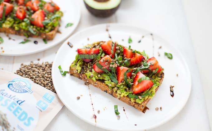 Strawberry Basil Avocado Toast