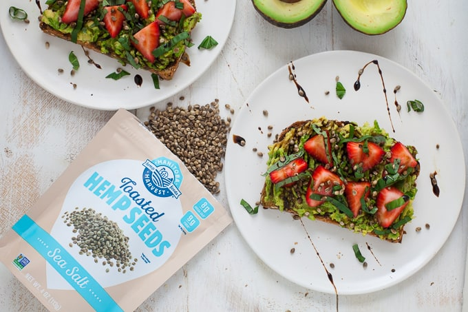 Strawberry Hemp Avocado Toast