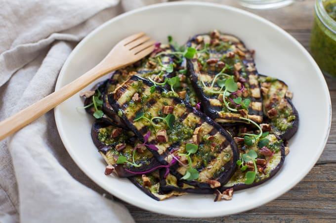 Eggplant with Pecan Pesto