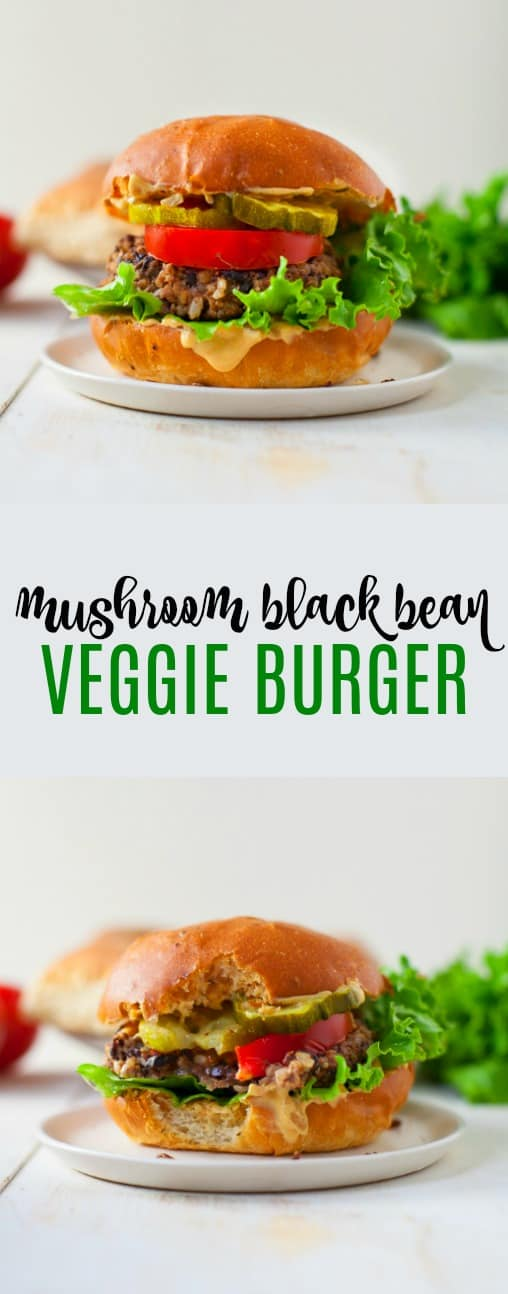 A plant-based burger you'll definitely want to sink your teeth into. This mushroom black bean veggie burger is perfect for summer BBQs and cookouts!