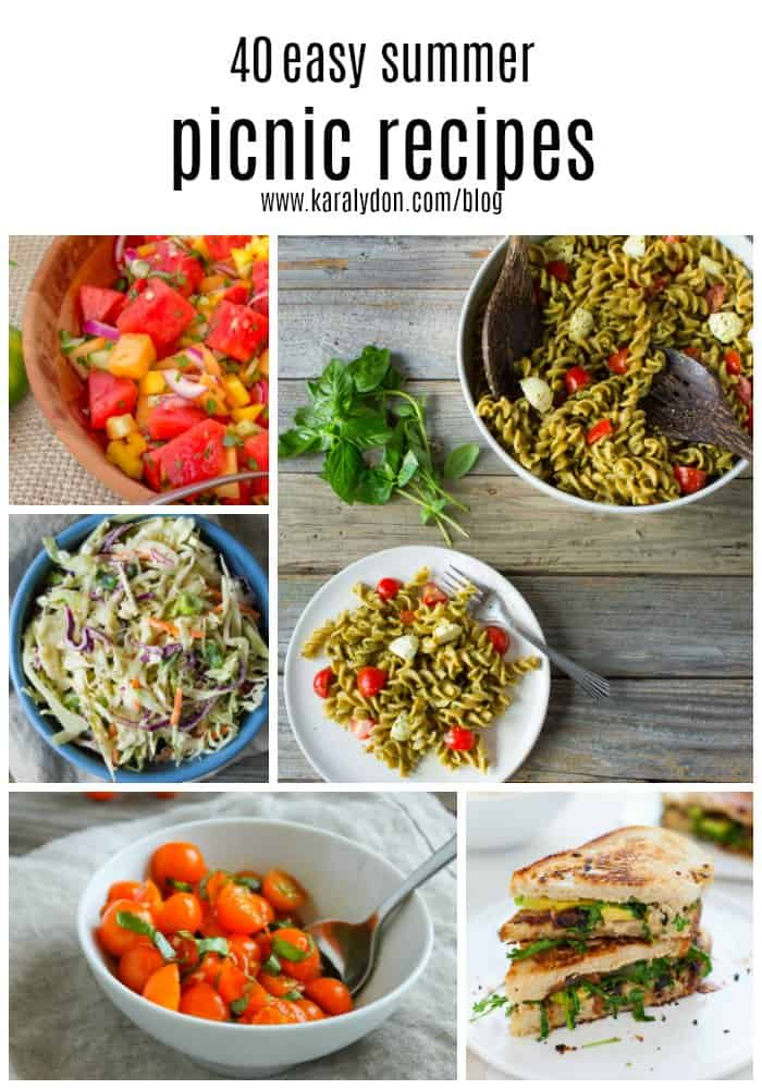 Don't miss out on your last month of summer picnics! Spend quality time outdoors with good food and good people with these 40 easy summer picnic recipes!