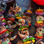 Shrimp and Veggie Kabobs with Wild Blueberry Barbecue Sauce-5-3
