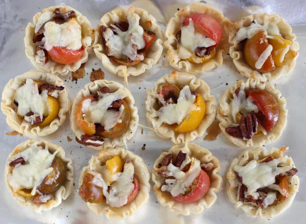 Tomato Pie Bites