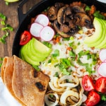 Fully Loaded Refried Bean Skillet