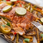Sheet Pan Salmon Fajitas