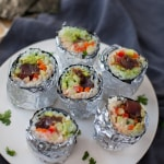 Mini Tuna Sushi Burritos
