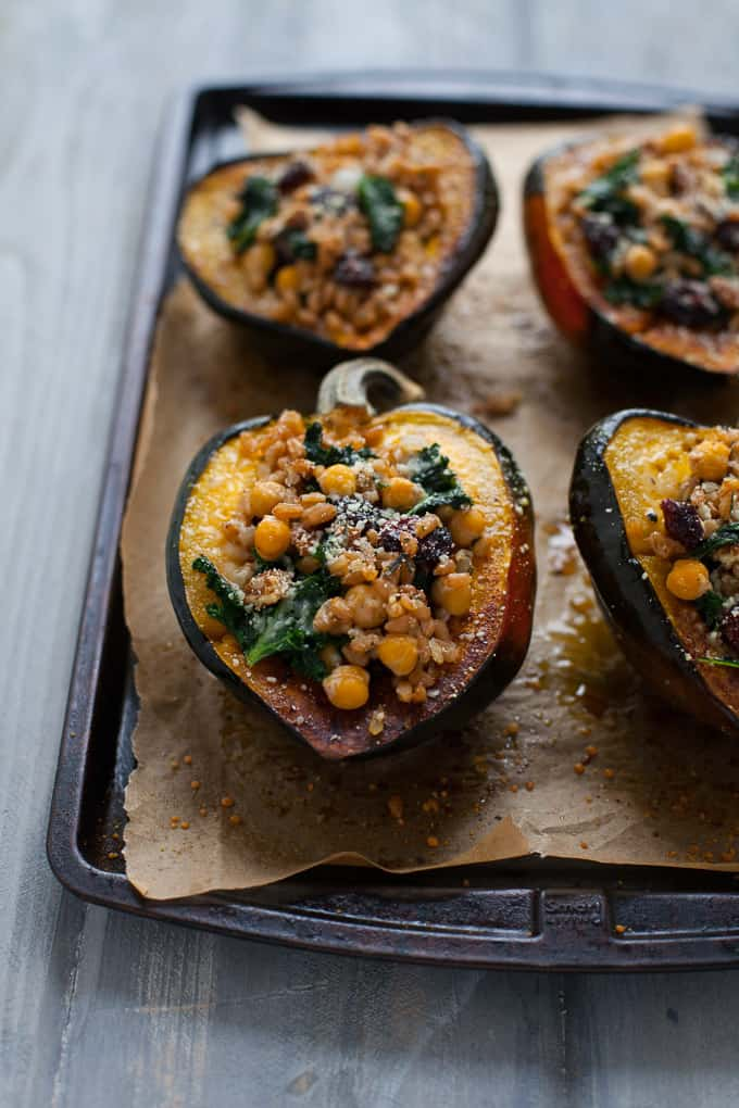 Thanksgiving Stuffed Acorn Squash - Vegetarian