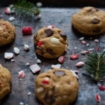 Easy Peppermint Dark Chocolate Chip Cookies