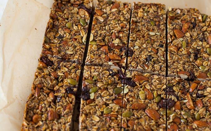 Gingerbread Granola Bars